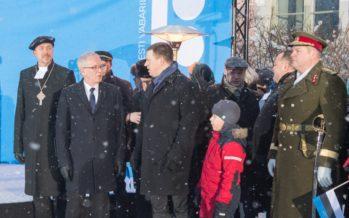 Riigikogu esimees Eiki Nestor Eesti Vabariigi 100. aastapäeva lipuheiskamise tseremoonial: Eestis saame tunda end vaba ja väärikana