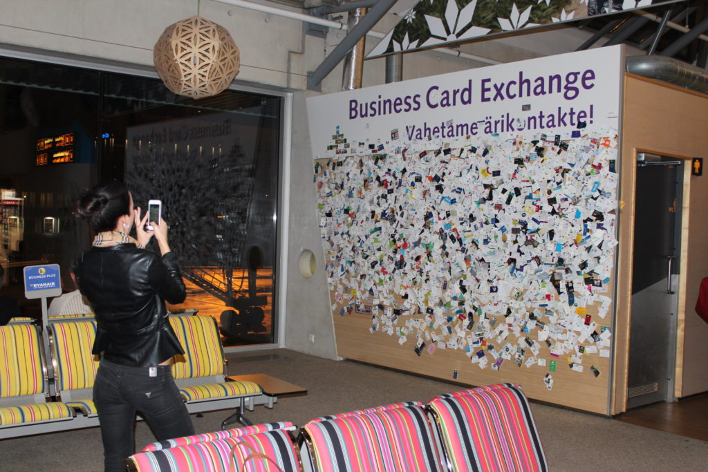 Tallinna Lennujaam Business Card Exchange