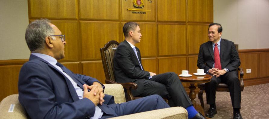 Riigikogu aseesimees Taavi Rõivas kohtus Singapuri parlamendi asespiikriga