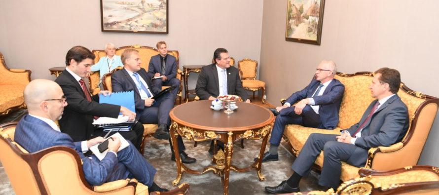 Eiki Nestori ja energeetikavolinik Maroš Šefčoviči kohtumisel oli juttu elektrituru toimimisest