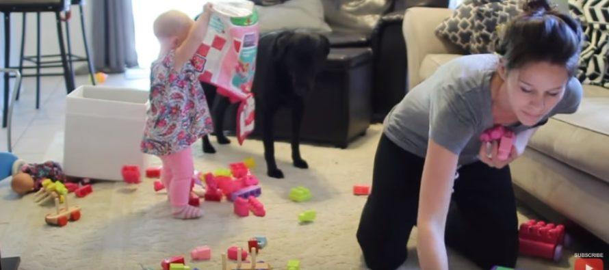 Vaata, miks väikelaste emad ei saa kodus mitte midagi tehtud. Kas Sinu päev möödub sarnaselt? + VIDEO!