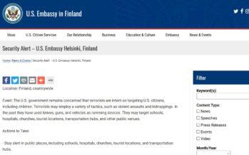 Soomes ja Rootsis valitseb terrorioht – USA saatkond andis välja hoiatuse