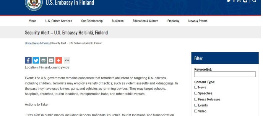 8aa2df78251 Soomes ja Rootsis valitseb terrorioht – USA saatkond andis välja hoiatuse