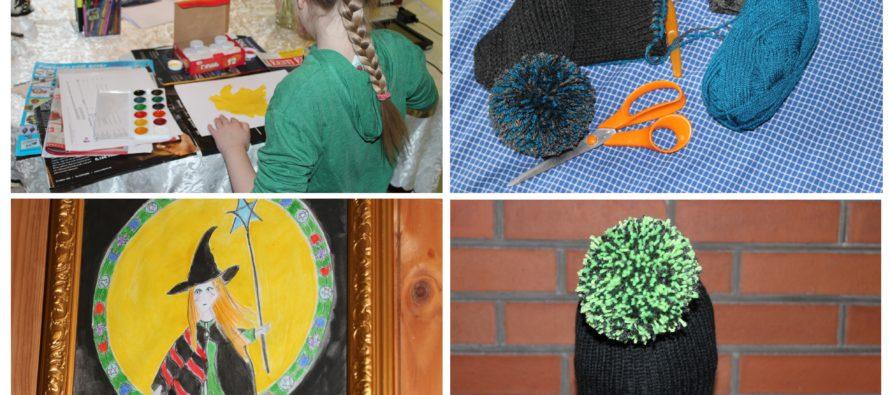 """Helena-Reet: PÄEV täis käsitööd koos tütre Ivanka Shoshanaga! 2 kootud tutimütsi, maalid ning oluline info: """"Emme on paks ja issi on pikk"""""""