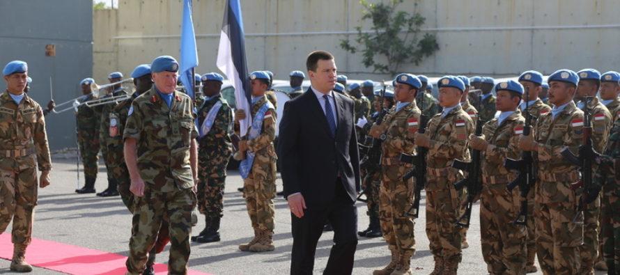Peaminister Jüri Ratas ja kindral Riho Terras Liibanonis: loodan edasisi operatsioone koos soomlastega