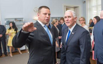 Peaminister Ratas kohtus USA asepresident Mike Pence`iga