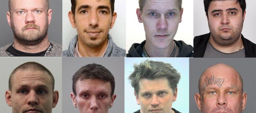 Keskkriminaalpolitsei avaldas Soome kõige tagaotsitumate kurjategijate fotod
