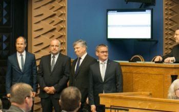 Neli uut ministrit andsid riigikogu ees ametivande
